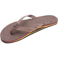 Rainbow - Womens Premier Leather Single Layer With Narrow Strap Sandals