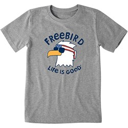 Life Is Good - Kids Crusher Freebird Cool Eag T-Shirt
