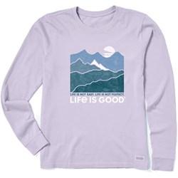 Life Is Good - Womens Long Sleeve Crusher-Lit Life Isn'T Easy M T-Shirt