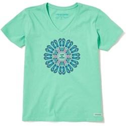 Life Is Good - Womens Short Sleeve Crusher Vee Flip Flop Mandala T-Shirt