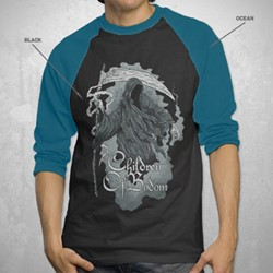 Children Of Bodom - Painted Reaper Raglan Mens Raglan In Black