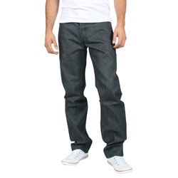 Levis - Mens 501 Button Fly Dark Grey Shrink to Fit Denim Jeans