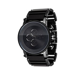 Vestal - Plexi Acetate Watch In Black/Black/Black/Minimalist