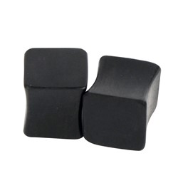 Solid Squared Dark Double Flared Wood Plug