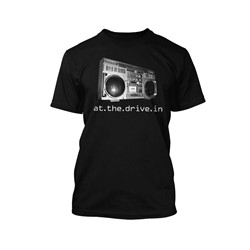 At The Drive-In - Boombox Adult T-Shirt In Black