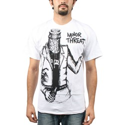 Minor Threat - Bottleman Mens S/S T-Shirt in White