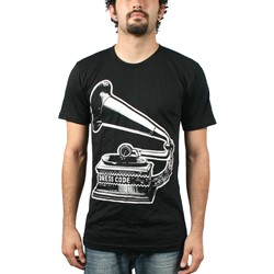 Record Player S/S Mens T-shirt in Black by Dress Code Clothing