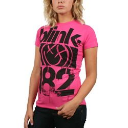 Blink 182 - 3 Bars Juniors / Womens S/S T-Shirt in Pink