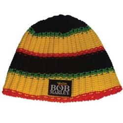 Bob Marley - Rasta Knit Beanie Hat In Tri-Color