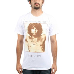The Doors - American Poet 30/1 Mens S/S T-Shirt In White