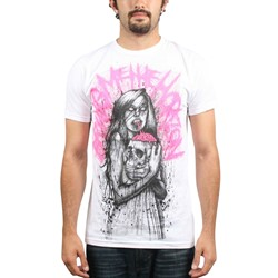 Bring Me The Horizon - Zombie Brain 30/1 Mens S/S T-Shirt In White