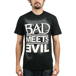 Eminem - Bad Meets Evil Square Logo Mens T-Shirt In Black