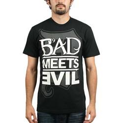 Eminem - Bad Meets Evil Square Logo Mens T-Shirt In Black