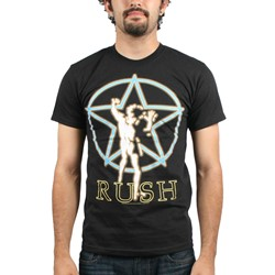 Rush - Starman Glow Mens S/S T-Shirt In Black
