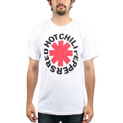 Red Hot Chili Peppers  - Asterisk Logo Adult T-Shirt In White
