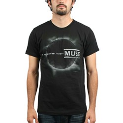 Muse Black Eclipse Adult S/S T-Shirt In Black