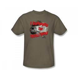 Irt: Deadliest Roads - I Survived Adult T-Shirt In Safari Green