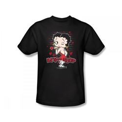 Betty Boop - Classic Kiss Slim Fit Adult T-Shirt In Black