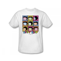 Betty Boop - She's Got The Look Slim Fit Adult T-Shirt In White