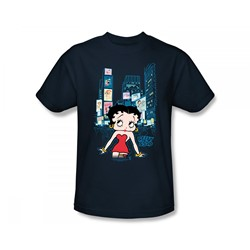 Betty Boop - Boop Square Slim Fit Adult T-Shirt In Navy