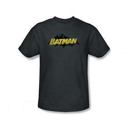 Batman - Classic Logo Adult T-Shirt In Charcoal