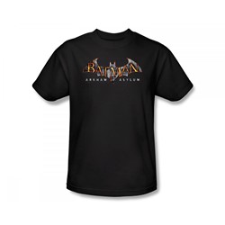 Batman - Arkham Asylum Logo Slim Fit Adult T-Shirt In Black