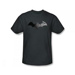 Batman: Arkham City - Bat Logo Slim Fit Adult T-Shirt In Charcoal
