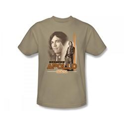 Battlestar Galactica - Apollo Adult T-Shirt In Sand
