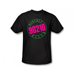 Beverly Hills 90210 - Beverly Hills 90210 / 90210 Neon Slim Fit Adult T-Shirt In Black