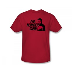 Star Trek: The Next Generation - St: Next Gen / I'M Number One Slim Fit Adult T-Shirt In Red