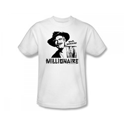 The Beverly Hillbillies - Beverly Hillbillies / Millionaire Slim Fit Adult T-Shirt In White