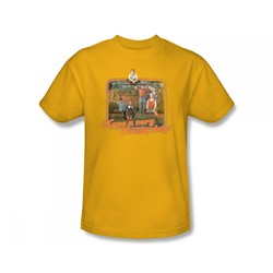 The Brady Bunch - Brady Bunch / Have A Very Brady Day! Slim Fit Adult T-Shirt In Gold