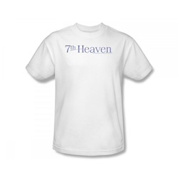 7Th Heaven - 7Th Heaven / 7Th Heaven Logo Slim Fit Adult T-Shirt In White