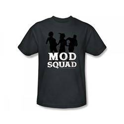 Mod Squad - Mod Squad / Mod Squad Simple Run Slim Fit Adult T-Shirt In Charcoal