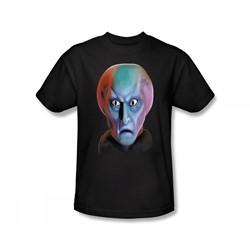 Star Trek: The Original Series - St / Balok Head Slim Fit Adult T-Shirt In Black