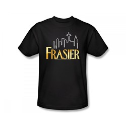 Frasier - Fraiser / Fraiser Logo Slim Fit Adult T-Shirt In Black