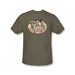 Cbs - Andy Griffith / 3 Funny Guys Adult T-Shirt In Safari Green