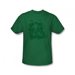 The Little Rascals - Little Rascals / The Gang Slim Fit Adult T-Shirt In Kelly Green