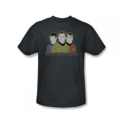 Star Trek: The Animated Series - St / Dig It Slim Fit Adult T-Shirt In Charcoal