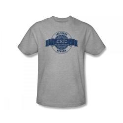 Csi - Csi / Csi Vegas Badge Slim Fit Adult T-Shirt In Heather