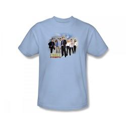 Csi: Miami - Csi / Miami Cast Slim Fit Adult T-Shirt In Light Blue