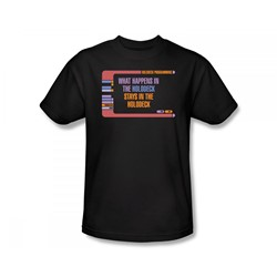 Star Trek: The Next Generation - St: Next Gen / Holodeck Secrets Slim Fit Adult T-Shirt In Black
