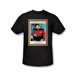 Star Trek: The Next Generation - St: Next Gen / Employee Of The Month Slim Fit Adult T-Shirt In Black