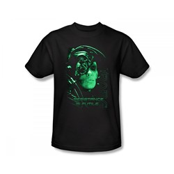 Star Trek: The Next Generation - St: Next Gen / Resistance Is Futile Slim Fit Adult T-Shirt In Black