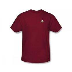 Star Trek: The Next Generation - St: Next Gen / Tng Command Emblem Slim Fit Adult T-Shirt In Cardinal