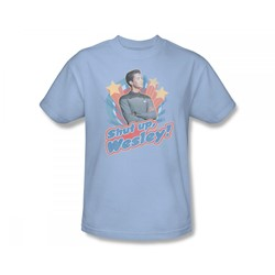 Star Trek: The Next Generation - St: Next Gen / Shut Up Wesley Slim Fit Adult T-Shirt In Light Blue