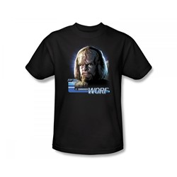 Star Trek: The Next Generation - St: Next Gen / Tng Worf Slim Fit Adult T-Shirt In Black