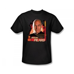 Star Trek: The Next Generation - St: Next Gen / Captain Picard Slim Fit Adult T-Shirt In Black