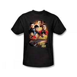 Star Trek: The Original Series - Heart Of The Enterprise Slim Fit Adult T-Shirt In Black