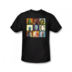 Star Trek: The Original Series - Alien Squares Slim Fit Adult T-Shirt In Black